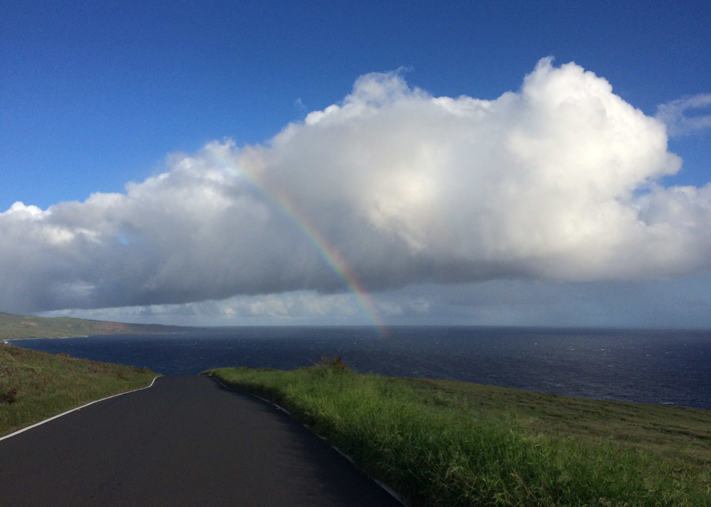 Rainbow off of the East Coast of Maui Mountains