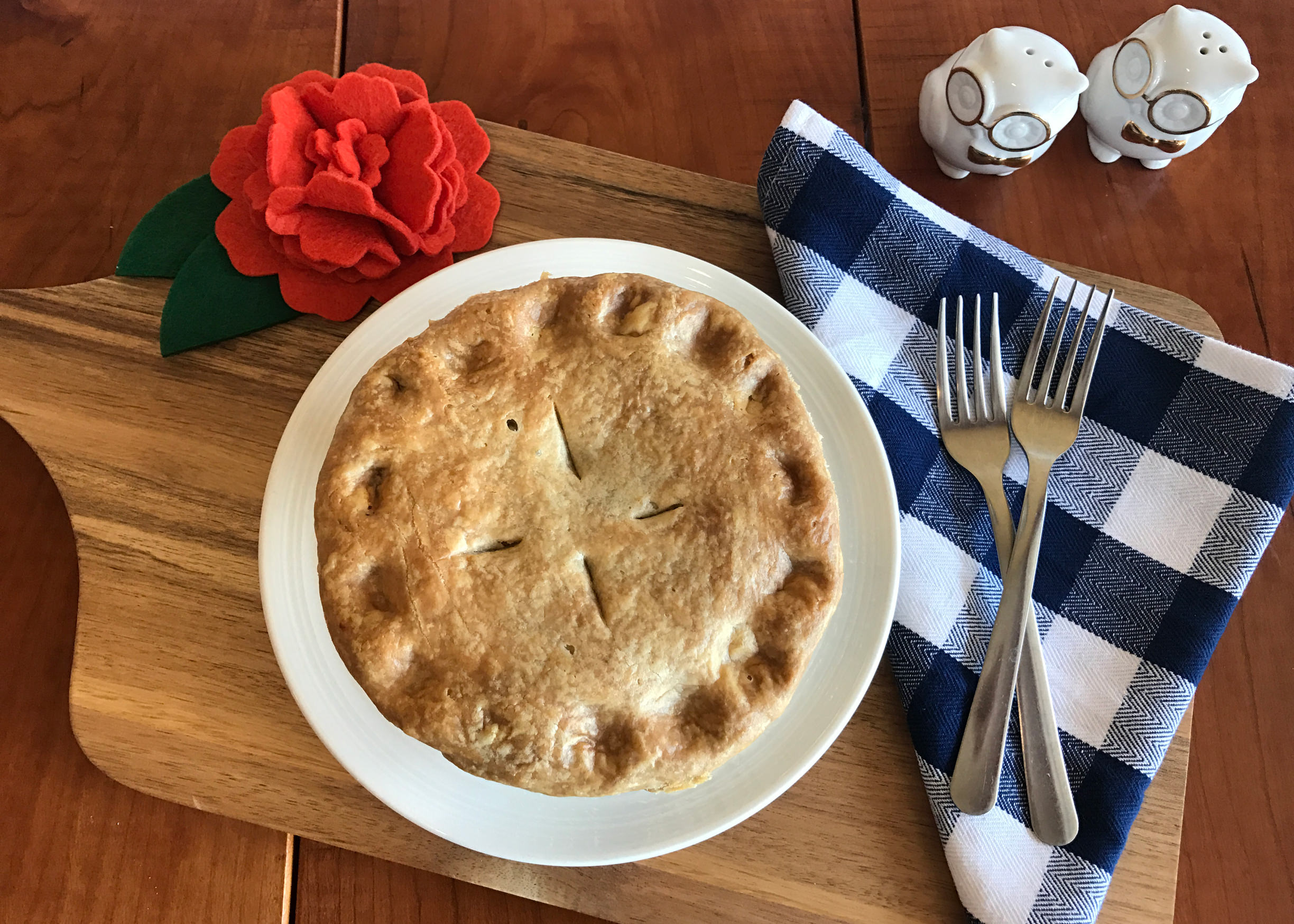 Plate full of a Maui Pie pie